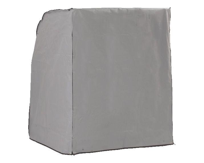 Schutzhülle für Strandkorb 2-Sitzer, grau, 125x114x154 cm