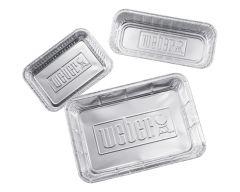 Weber® Tropfschalen XL, Aluminium, 5 Stück