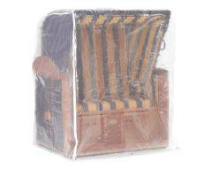 Schutzhülle für Strandkorb 2-Sitzer, transparent, 125 x 110 x 156 cm