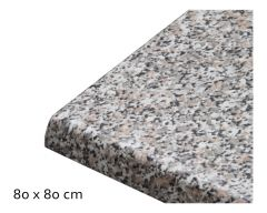 Tischplatte Topalit, 80 x 80 cm