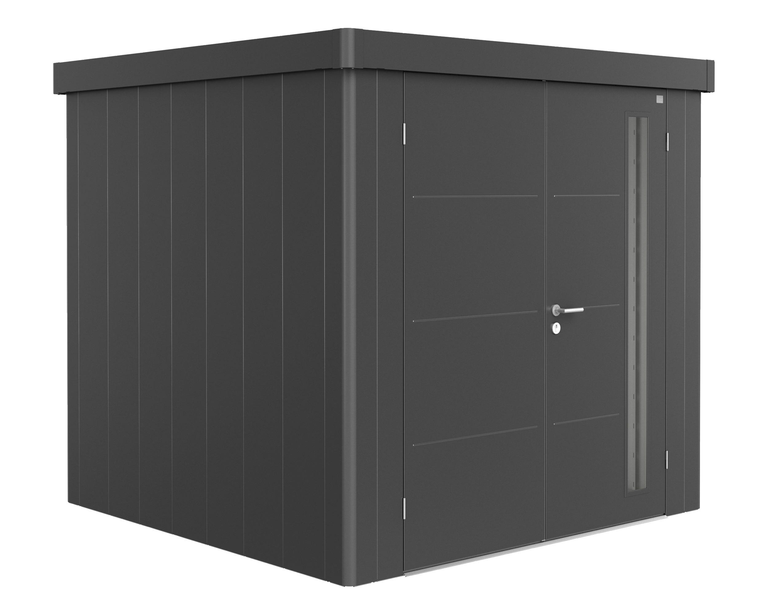 Gerätehaus Neo, 2B, 236x236 cm, Doppeltüre