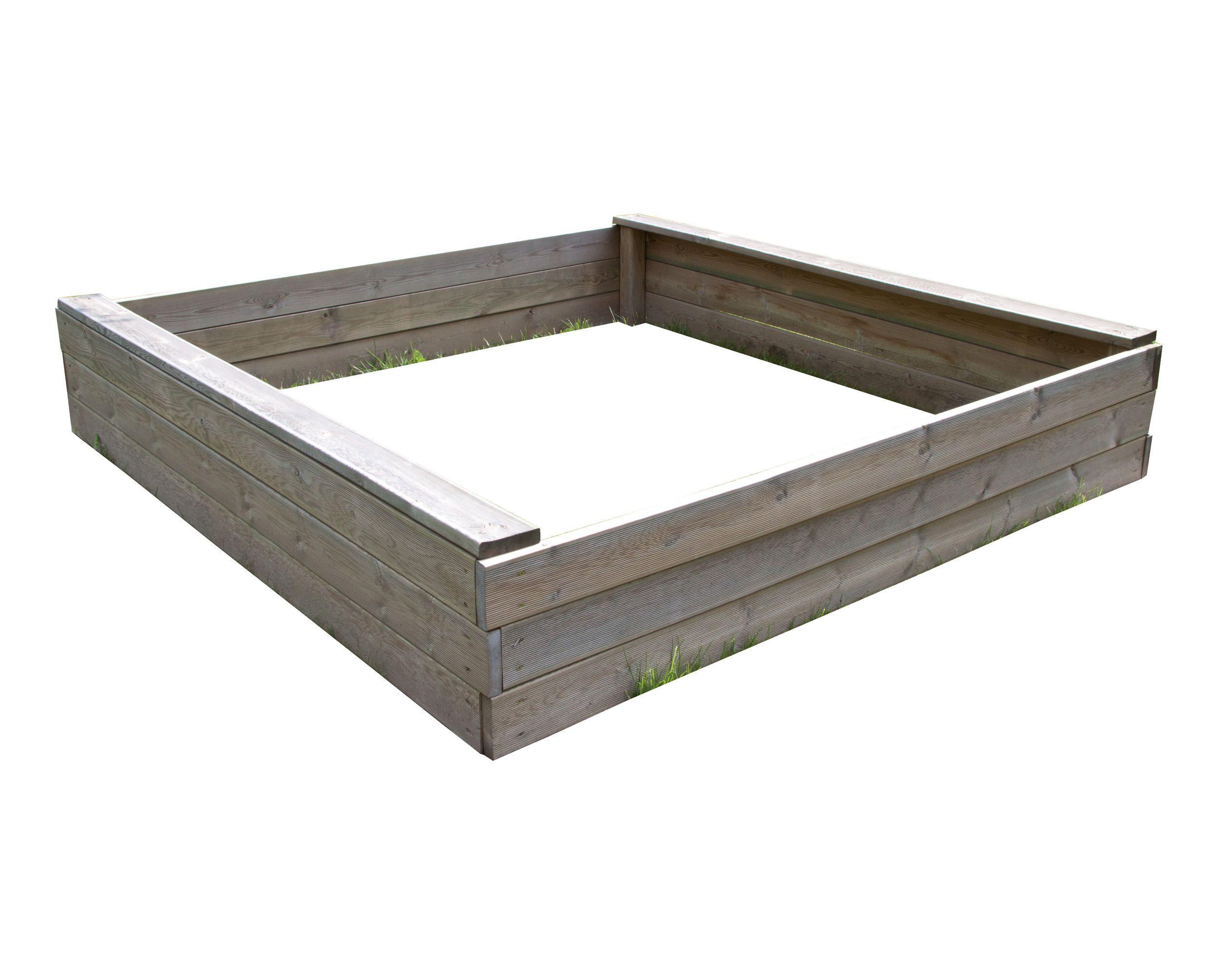 Sandkasten, 153x153x39 cm