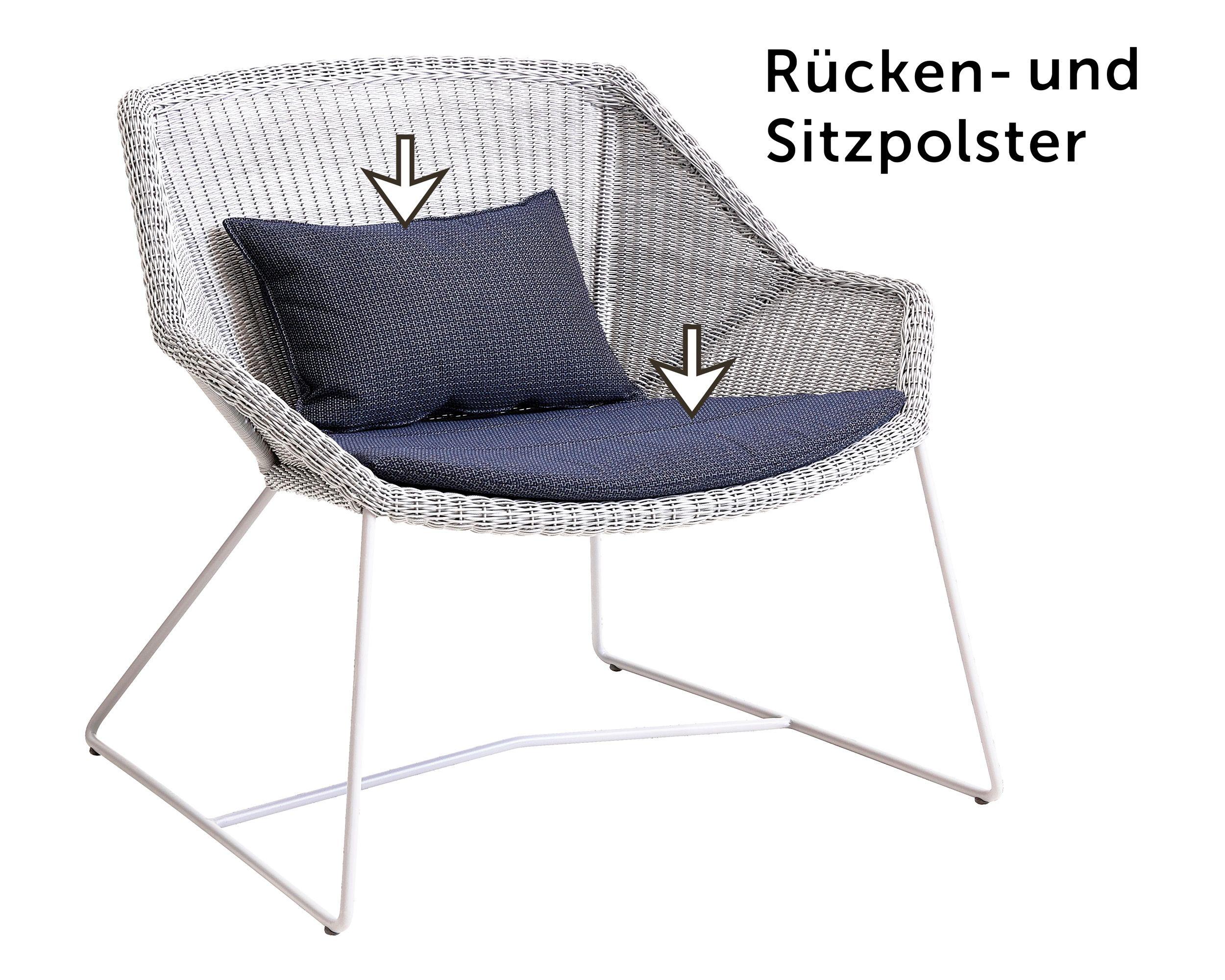 Polster-Set Loungesessel Finley nieder, blau