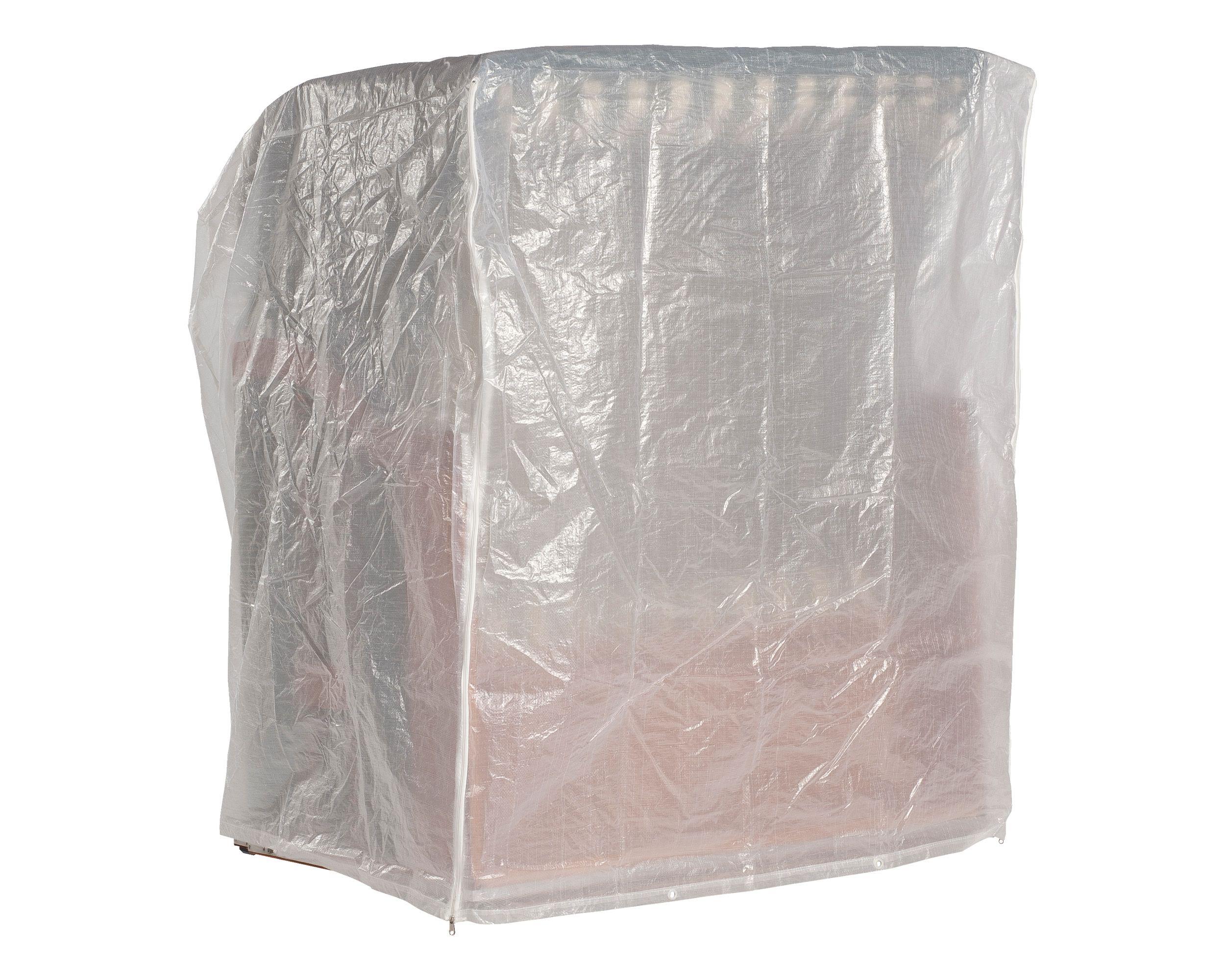 Schutzhülle für Strandkorb 2-Sitzer XL, transparent, 150x110x156 cm