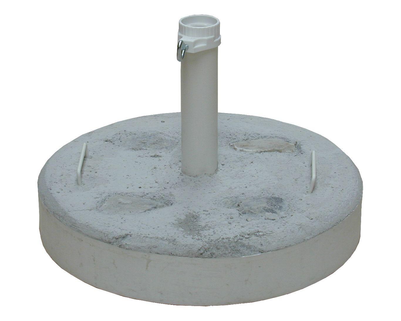 Betonständer Natursteindekor, 50 kg, Rohr weiß