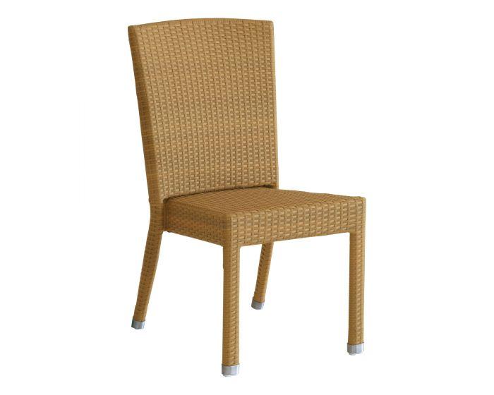 Stapelsessel Nizza, ohne Armlehne - Geflecht - Sessel - DINING