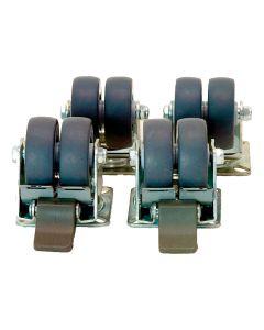 Blaha Gartenmöbel - Doppel-Lenkrollen für Strandkorb (AC-DV10506)