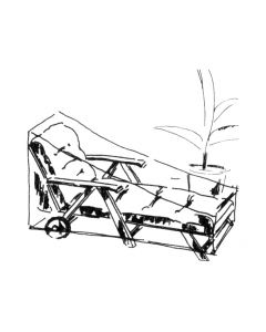 Blaha Gartenmöbel - Schutzhülle Räderliege, Länge 173 cm (AC-LU2816)